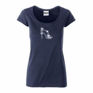 T-shirt met dansschoen in hotfix steentjes