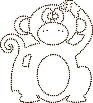 stippelpatroon aapje