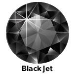 black hotfix stone