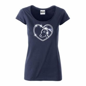 T-shirt met hond in SS10 strass steentjes