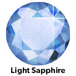 Light Saphhire hotfix stone