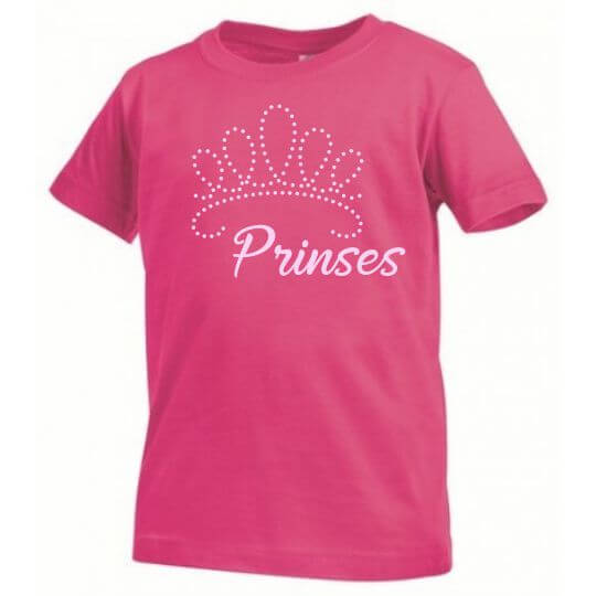 Roos Kinder T-shirt Kroon Prinses