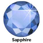 Saphhire hotfix stone