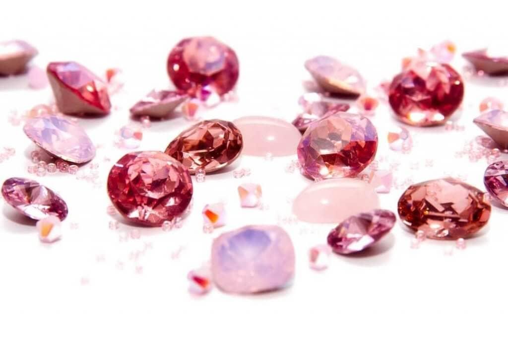 roze strass steentjes