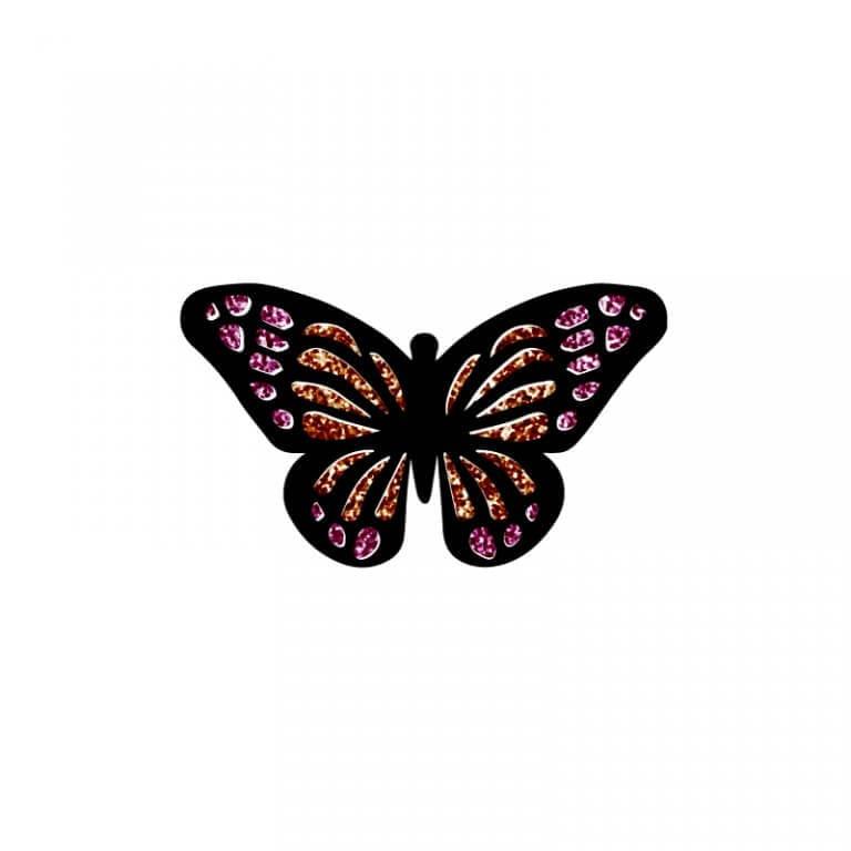 Glitter Strijkapplicatie Vlinder bestand