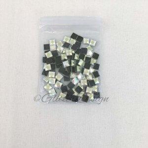 Hotfix Crystal vierkant klein 6 mm