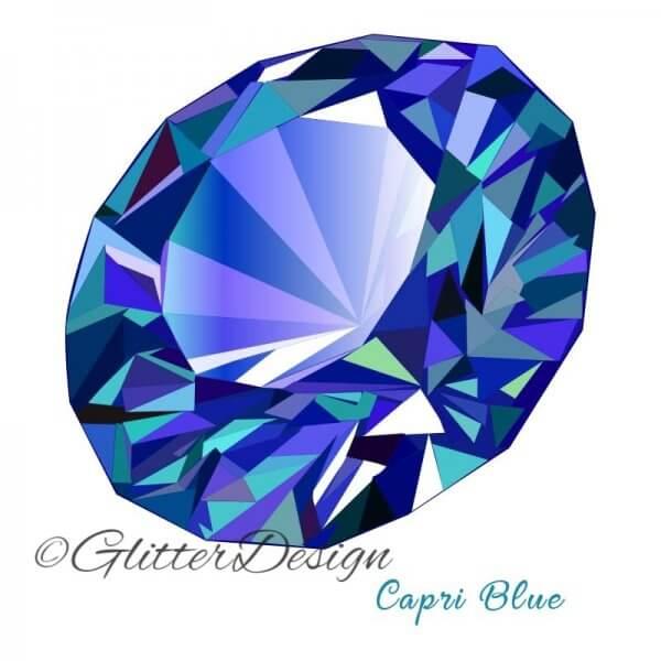 Strass steentjes Capri Blue