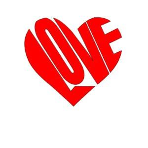 Gratis uitknippatroon Love Hart