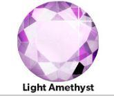 Strass Steentjes Light Amethist