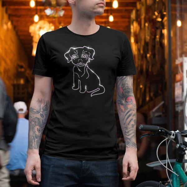 Mens rhinestone shirt