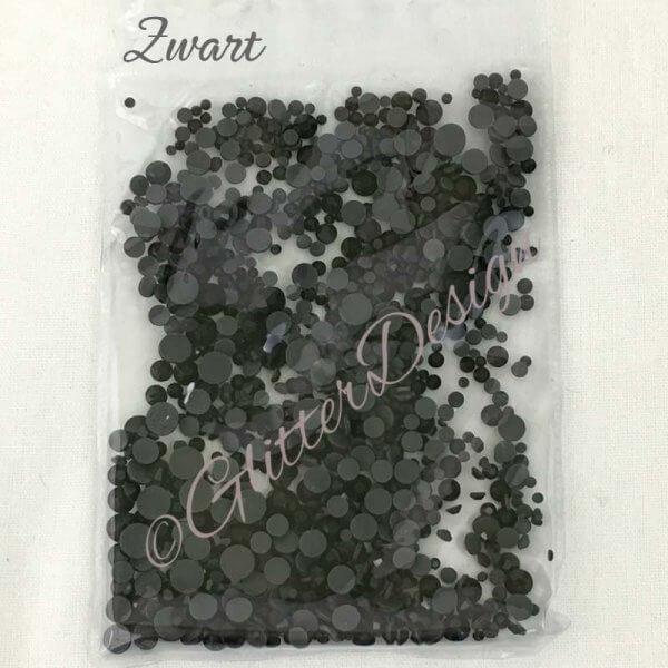 Mix Strass steentjes Zwart