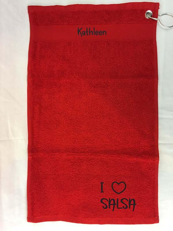 Flexfolie op Handdoek