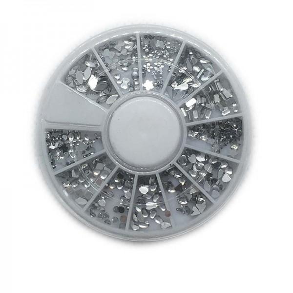 Kleine Strass Nagelsteentjes Zilver