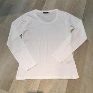 Witte T-shirt met lange mouwen
