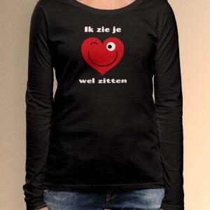 Grappige Valentijnsdag shirt Dames