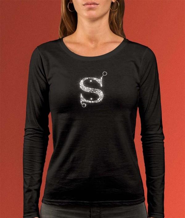 T-Shirt met Strass Letter S