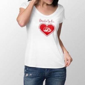 Unieke T-shirt Bruid