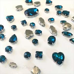 Grote opnaaistenen Aqua Blauw